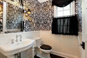 black and white bathroom wallpaper black and white damask wallpaper bathroom