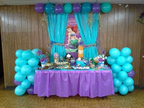 the mermaid birthday dessert buffet also check out my shop or more ideas www