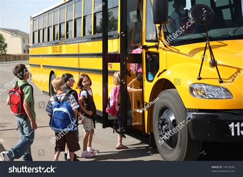 Search On By School Elementary School Students Get On School Stock Photo 14675596