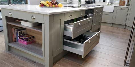 bespoke kitchen islands 2018 shaker solid ash kitchen in grey blok designs ltd