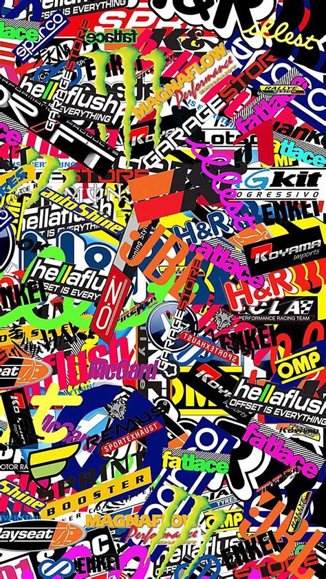 jdm sticker wallpaper 10 best sticker bombs images by pixelrage on pinterest
