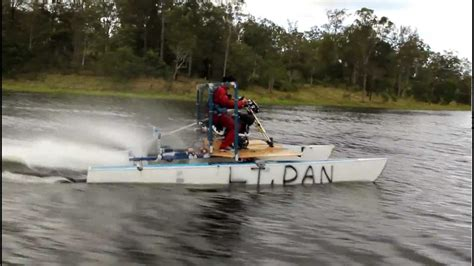 fast homemade boat high speed paddle boat youtube