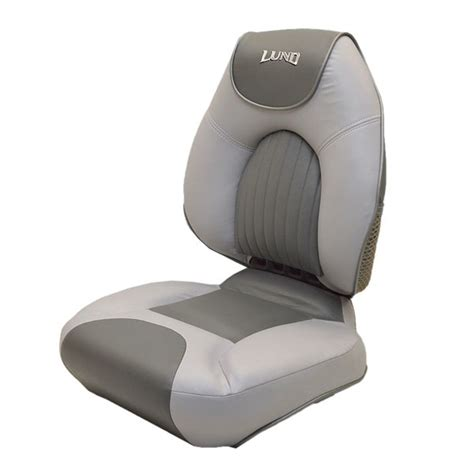 boat seats lund lund 1988825 gray centric boat folding fishing seat chair