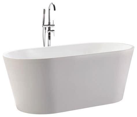 houzz bathtubs kardiel agora freestanding acrylic bathtub white