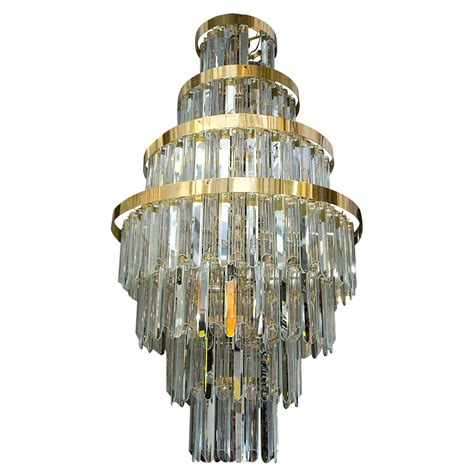 Tier Chandelier A Midcentury Mirrored And Glass Seven Tier Chandelier For Sale At 1stdibs