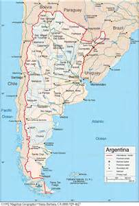 map of chile and argentina