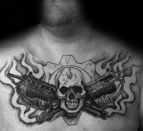 gears of war tattoo designs 50 gears of war designs for ink ideas