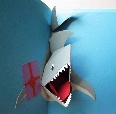 shark pop up card template cornerstonelae birthday shark