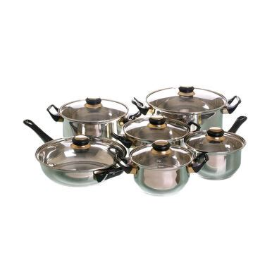 Vicenza Stainless jual vicenza stainless steel v612 tipe a set alat masak 12 pcs silver jd id