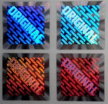 Stiker Hologram Bintang jual stiker murah design logo segel stiker hologram