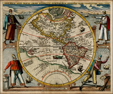 New World file america or the new world map by theodor de bry 1596