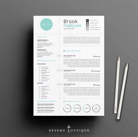 Cv Bali Design | resume template 3page cv template cover letter for ms