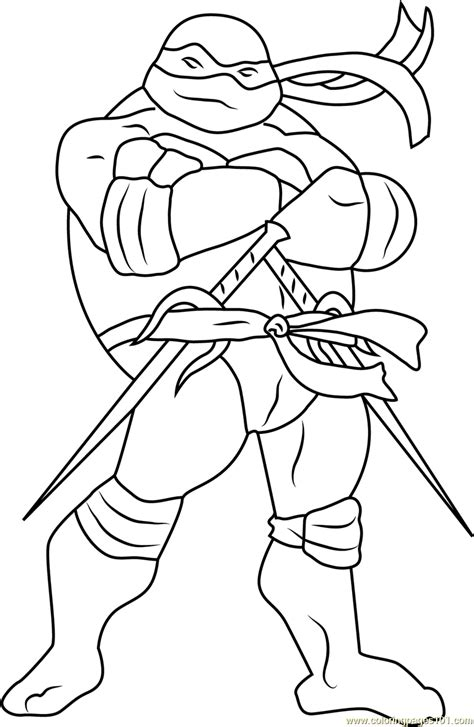 raphael coloring page free mutant turtles