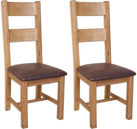 Perth Dining Chairs Perth Oak Dining Chairs Pair