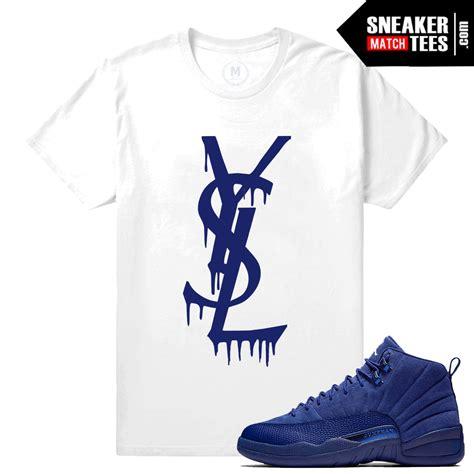 Tshirt T Shirt Air Blue shirt match 12 blue suede tees sneaker match tees