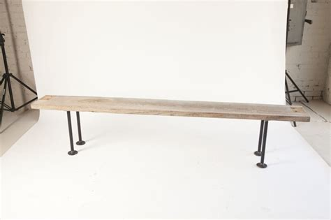 pipe bench diy reclaimed wood bench with pipe legs my house style