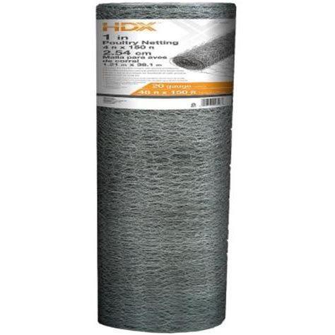 Netting Home Depot hdx 4 ft x 150 ft poultry netting 308432hd the home depot