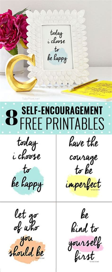 printable quotes of encouragement self encouragement printables happy brown and quotes