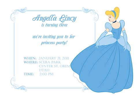 cinderella invitation to the template cinderella themed best events