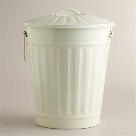 ivory retro galvanized trash can world market