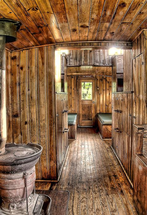 What Is Of Interior Inside The Caboose Photograph By Clifford