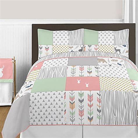 mint and coral bedding buy sweet jojo designs woodsy 3 piece full queen comforter