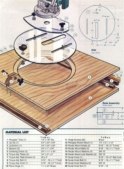 router plans woodworking free router circle cutting jig plans woodarchivist