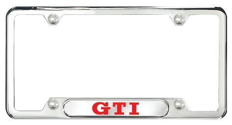zvw355025 license plate frame gti frames