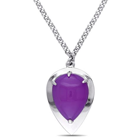 Necklace Lights by Light Purple Chalcedony Necklace In Sterling Silver Delmar
