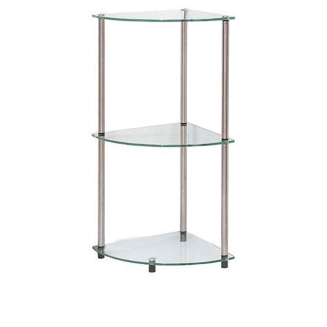 Stainless Corner Shelf by Classic Glass Stainless Steel Three Tier Corner Shelf