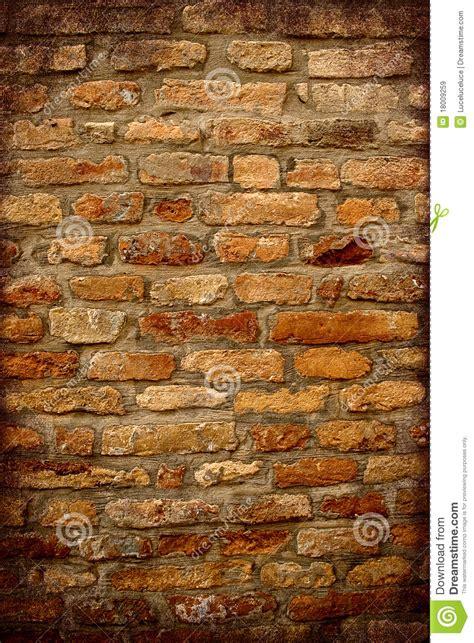 mattoni testo muro di mattoni antico con la pagina scura immagini stock