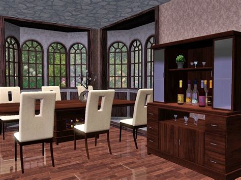 Dining Room Set Sims 3 Flovv S Chocolate Dining Room
