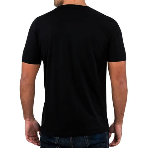 black back black t shirt back view custom shirt
