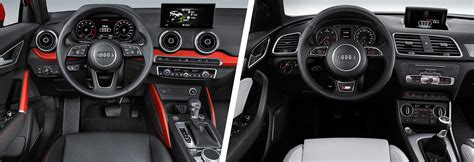 audi q3 dashboard audi q2 vs q3 suv comparison carwow