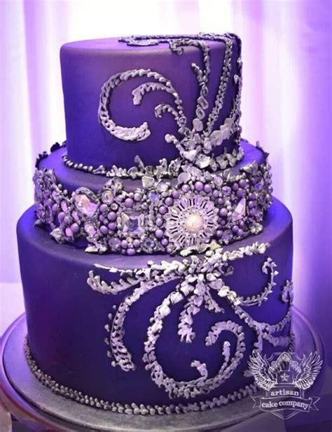 Beautiful cake with edible bling   Wedding Cakes