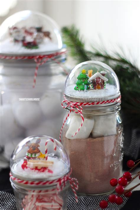 how to make a cheap snow blancket jar lid snow globe smart school house