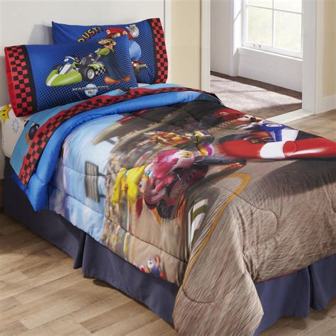 mario bedding licensed kids super mario twin full comforter home bed