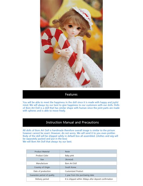 jointed doll 26cm dollbom como 26cm joint doll usd kmall24