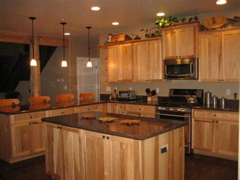 Hickory Wood Countertops by Countertops Hickory Kitchen Cabinets And Soapstone On