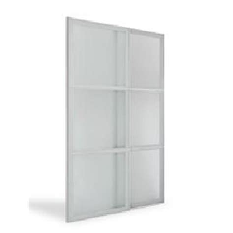 Frosted Glass Sliding Wardrobe Doors Flatpax 700mm Framed Frosted Glass Sliding Wardrobe Door 2 Pack I N 2580834 Bunnings Warehouse