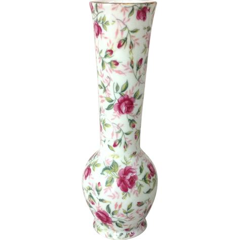Lefton Vase by Vintage Lefton 1950s Chintz Bud Vase From
