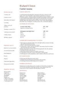 entry level cashier resume duties of a cashier