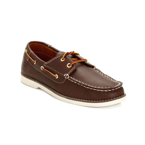 timberland boys brown seabury classic leather