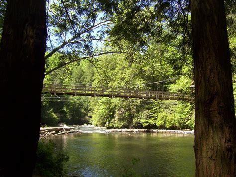 toccoa river swinging bridge panoramio photo of toccoa river swinging bridge