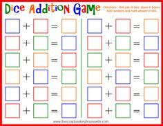 printable dice games for kindergarten teningaleikir dice games on pinterest dice games dice