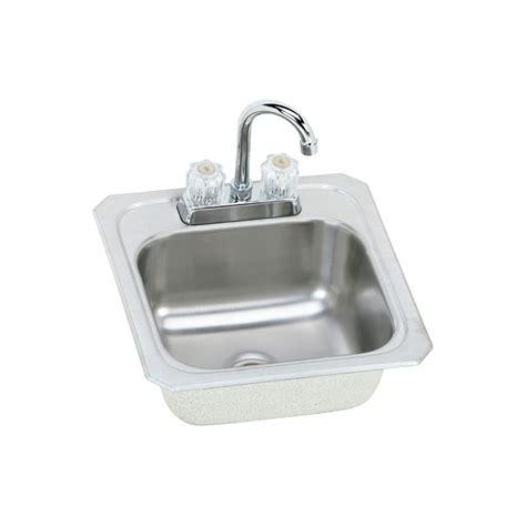 drop in bar sink shop elkay gourmet brushed satin 2 hole stainless steel