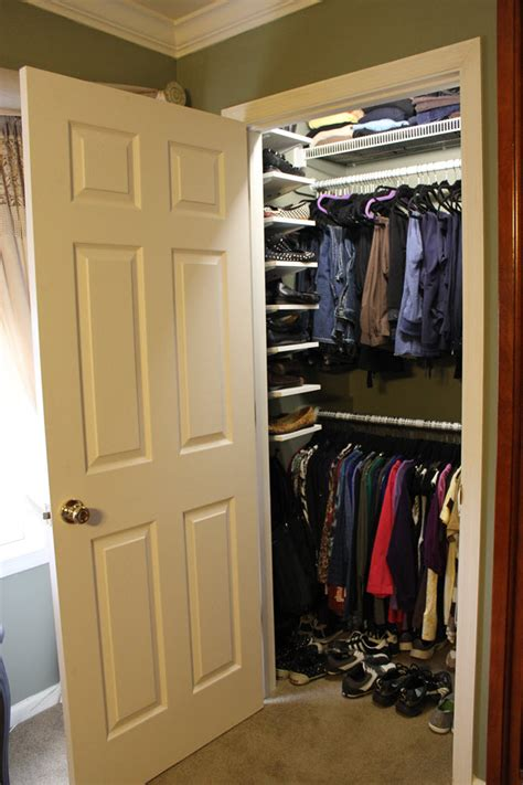 a new walk in closet that transformed bedroom