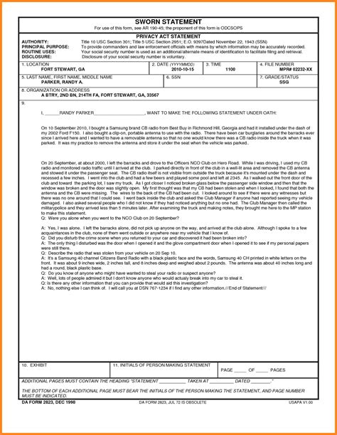 Section 508 Tester Cover Letter by Blank Sworn Statement Section 508 Tester Cover Letter