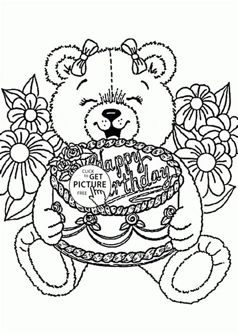 birthday wishes coloring pages get this happy birthday coloring pages free printable 61840