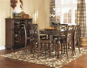 7 Piece Dining Room Sets porter counter height dining set by ashley furniture